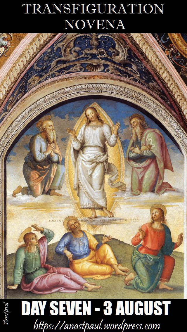 DAY SEVEN - TRANSFIGURATION NOVENA