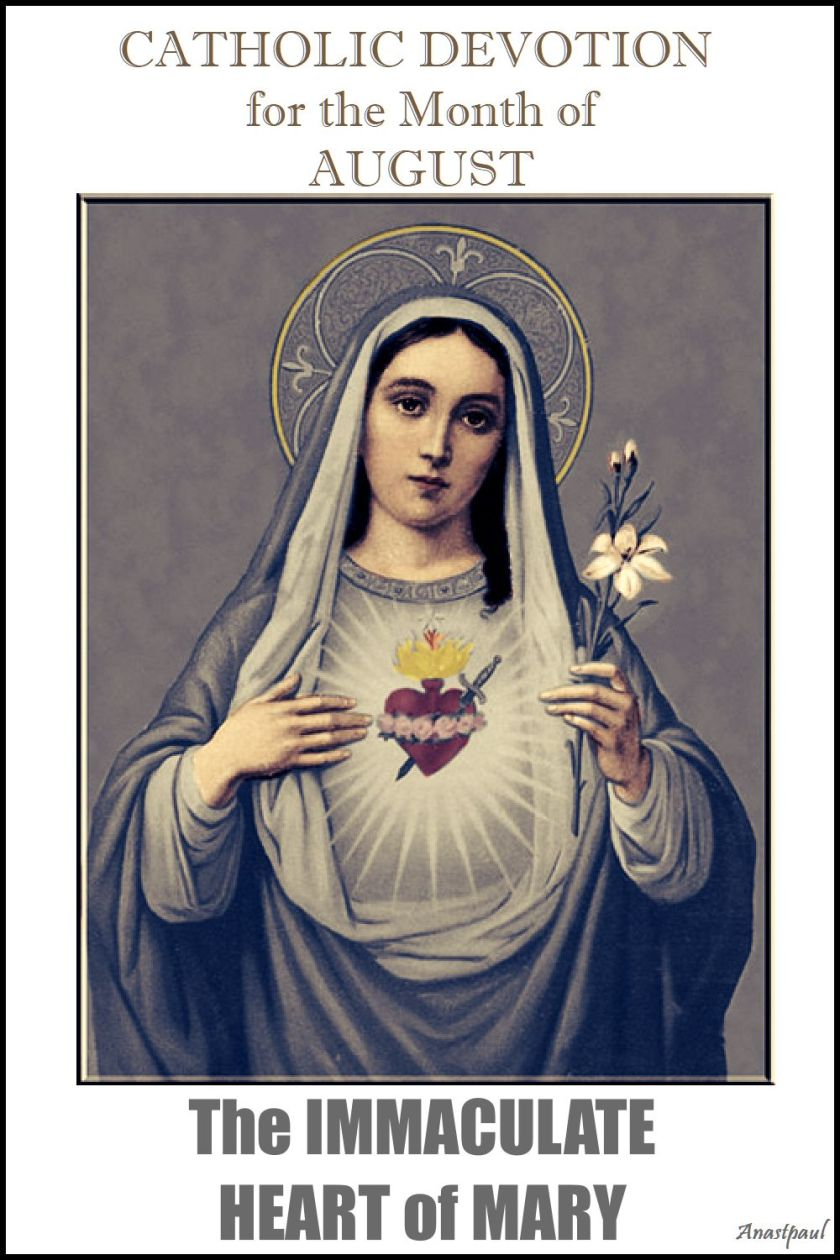 devotion for august - the immaculate heart of mary