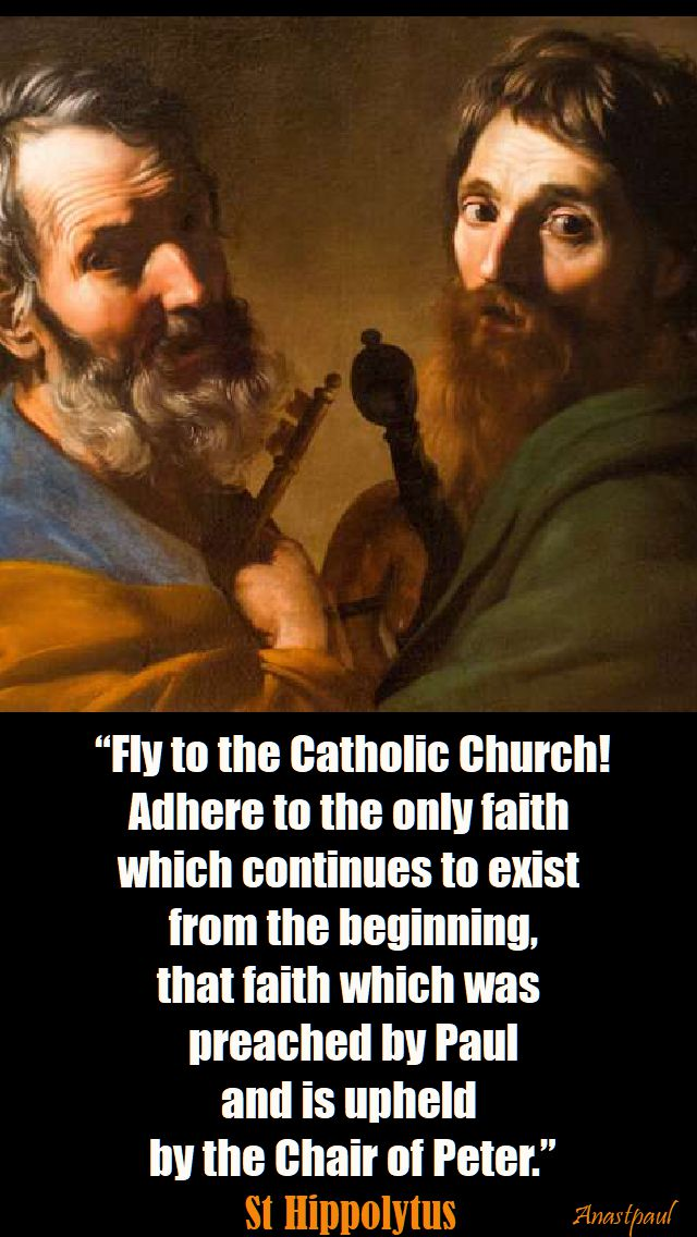 fly to the catholic church - st hippolytus