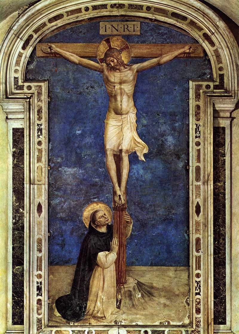 fra angelico st dominic adoring the crucifix