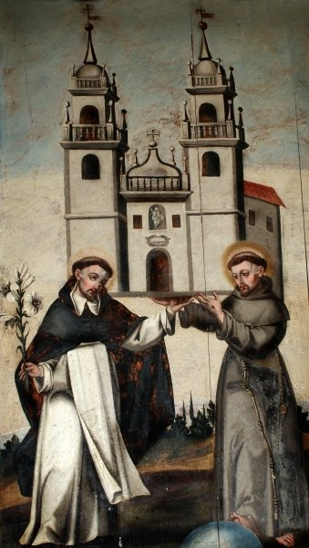 francis and dominic holding church