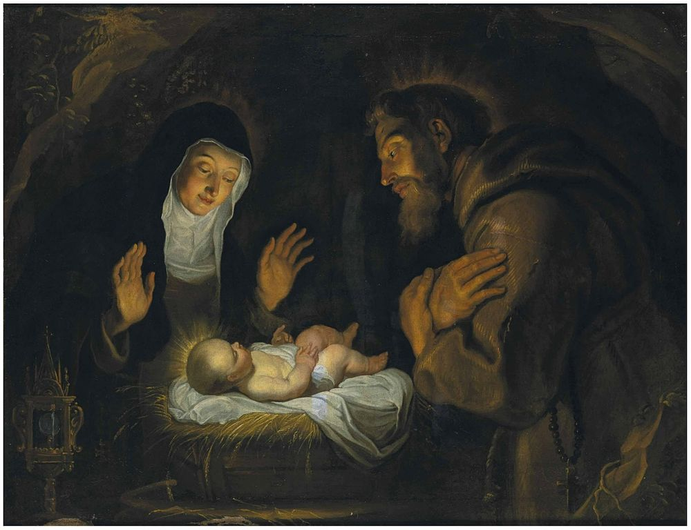 Gerard_Seghers_-_St._Clare_and_St._Francis_of_Assisi_in_adoration_before_the_Child_Jesus