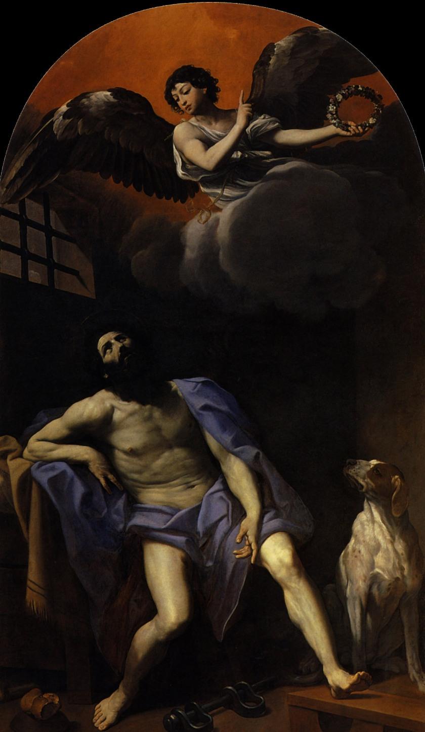 guido reni san roque 1617