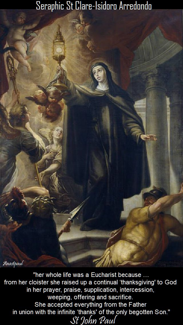 her whole life was a Eucharist - st john paul