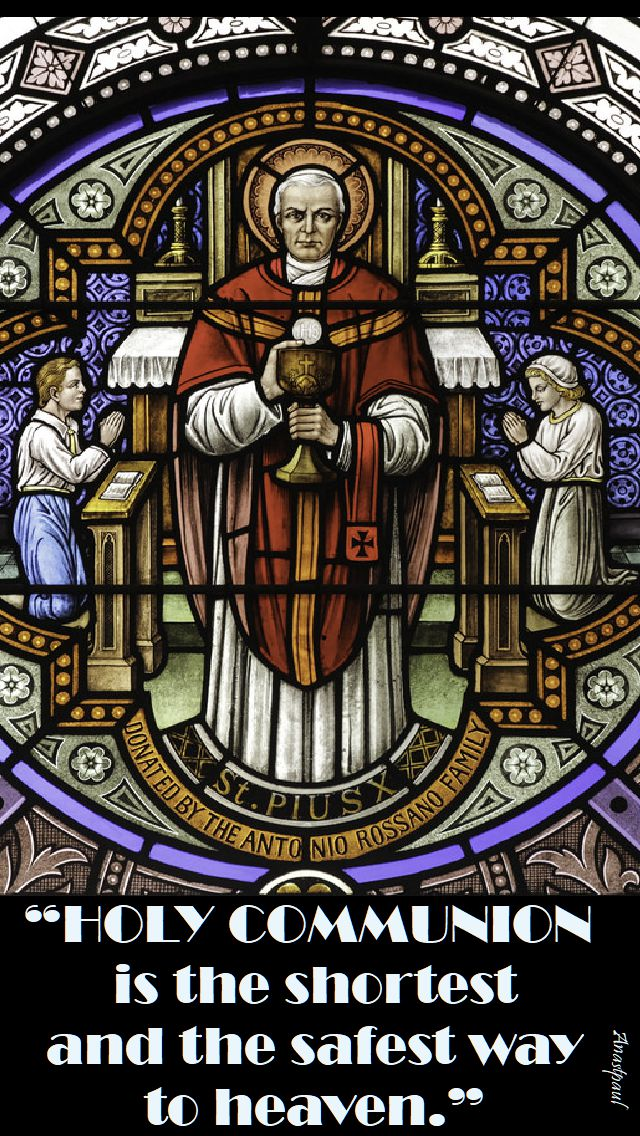holy communion - st pius X