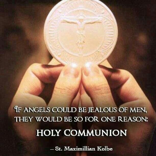 if angels could be jealous of men - st maximillian kolbe