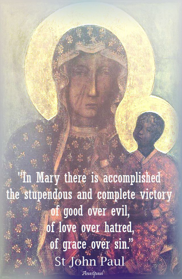 in mary there is accomplished - st john paul