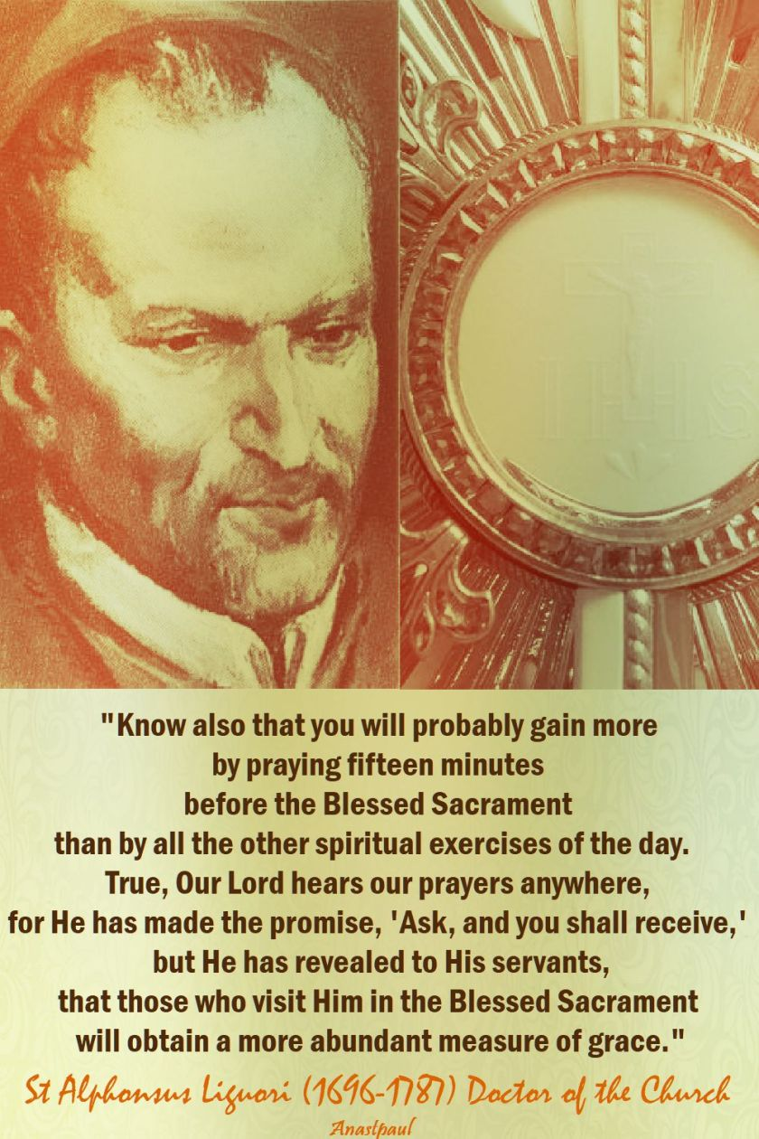 know also that you will probably gain more - st alphonsus