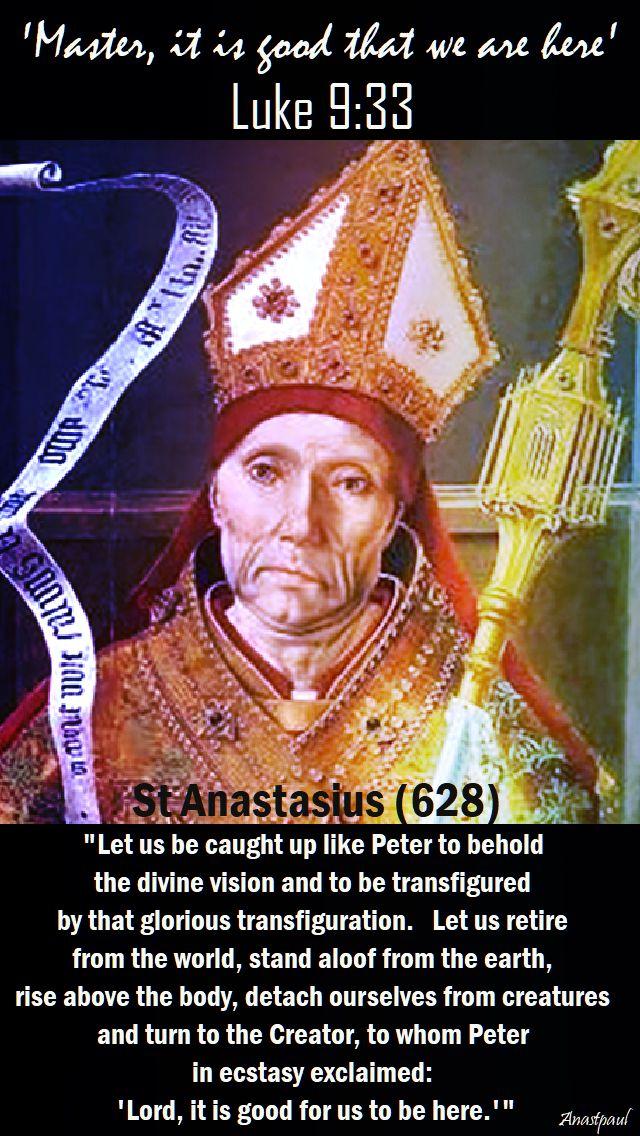 le us be caught uplike peter - st anastasius