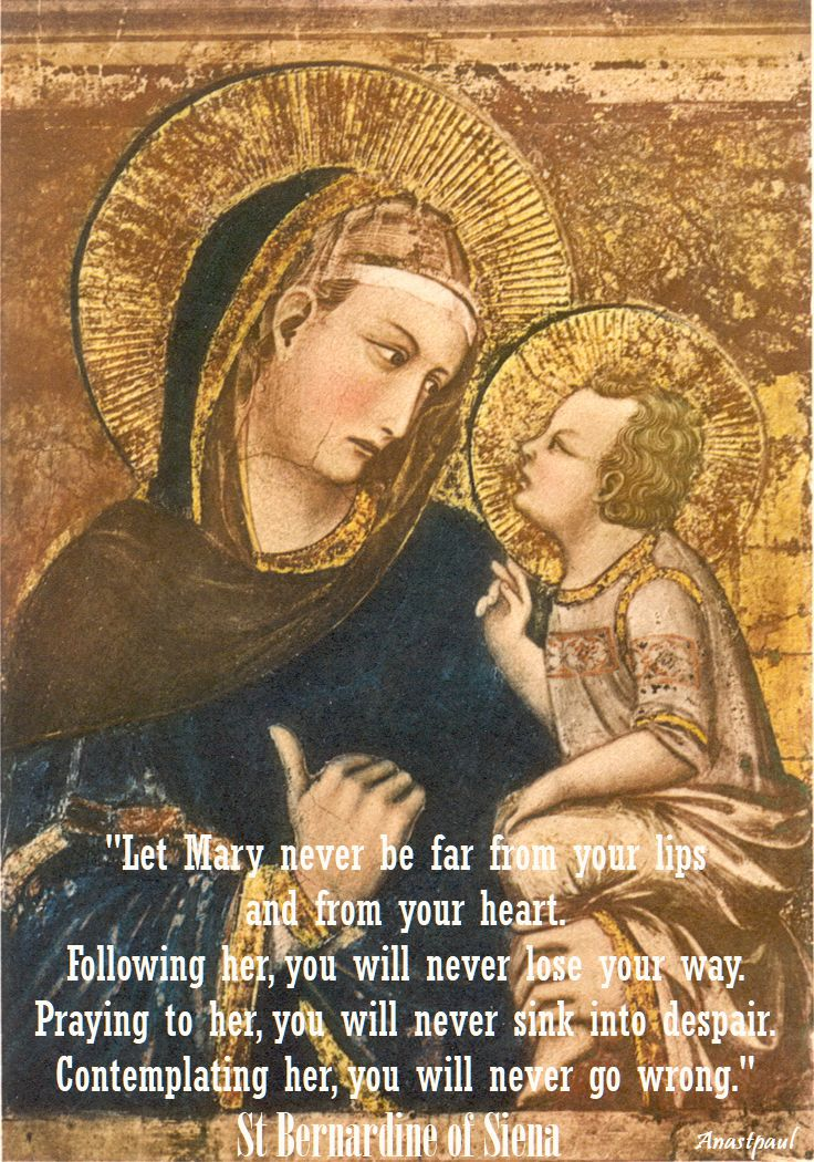 let mary never be far from your lips n 2 - st bernardine of siena