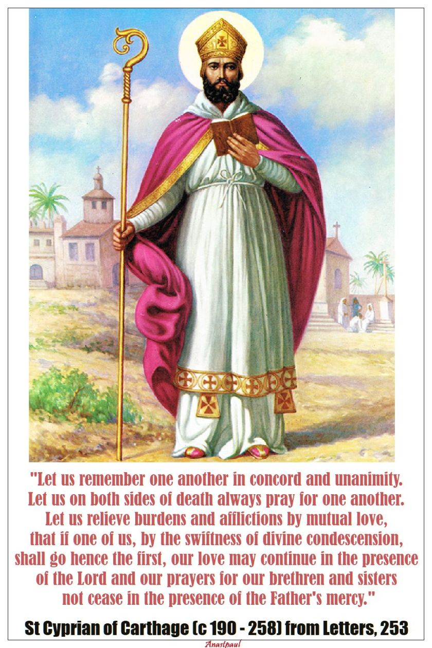 let us remember one another - st cyprian