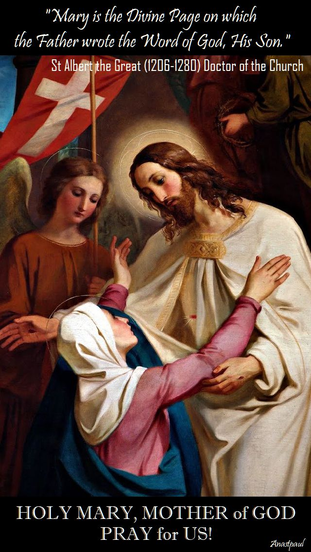 mary is the divine page - st albert the great - doctor