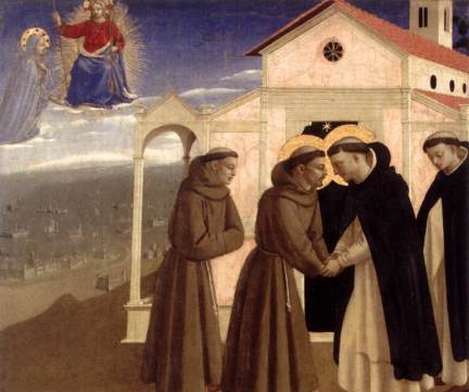 Meeting of St. Francis and St. Dominic, c.1429 - Fra Angelico