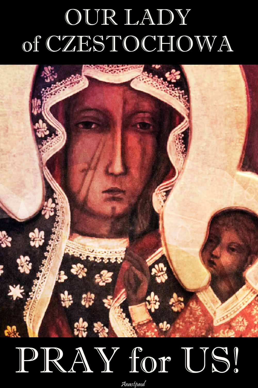 our lady of czestochowa pray for us
