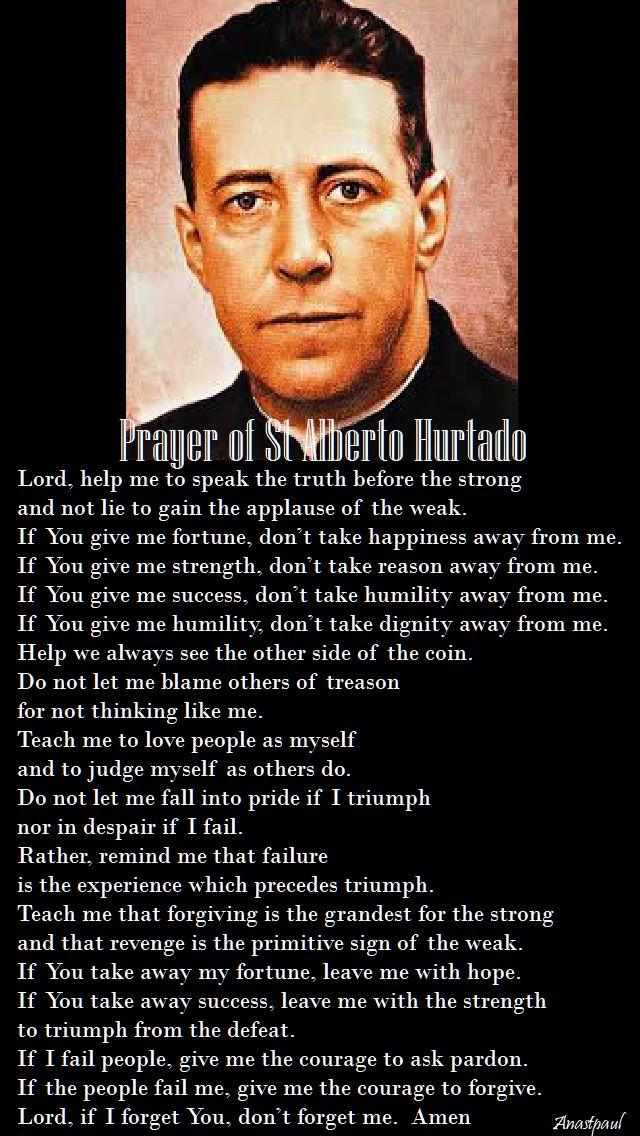 prayer of st alberto hurtado