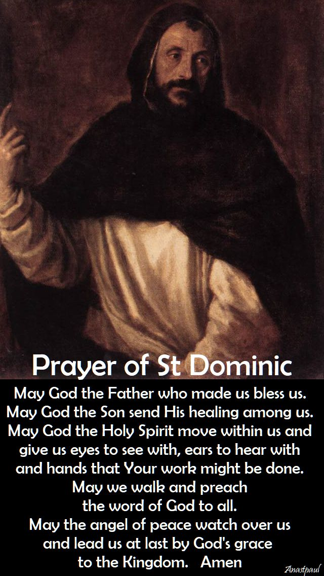 prayer of st dominic - may god the father