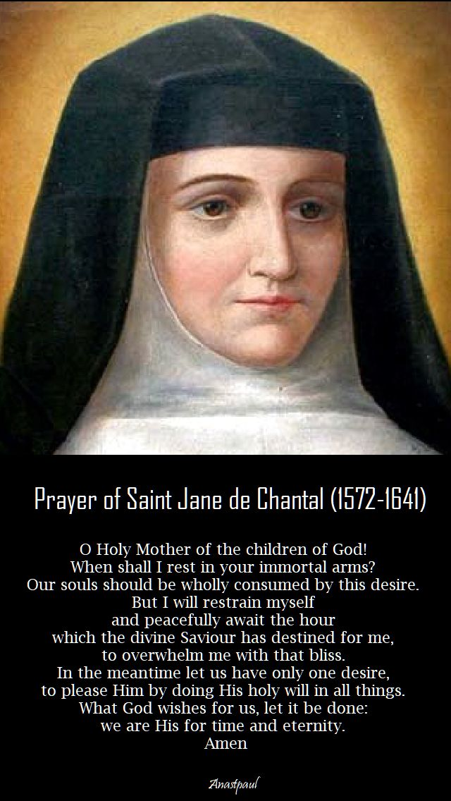 prayer of st jane de chantal