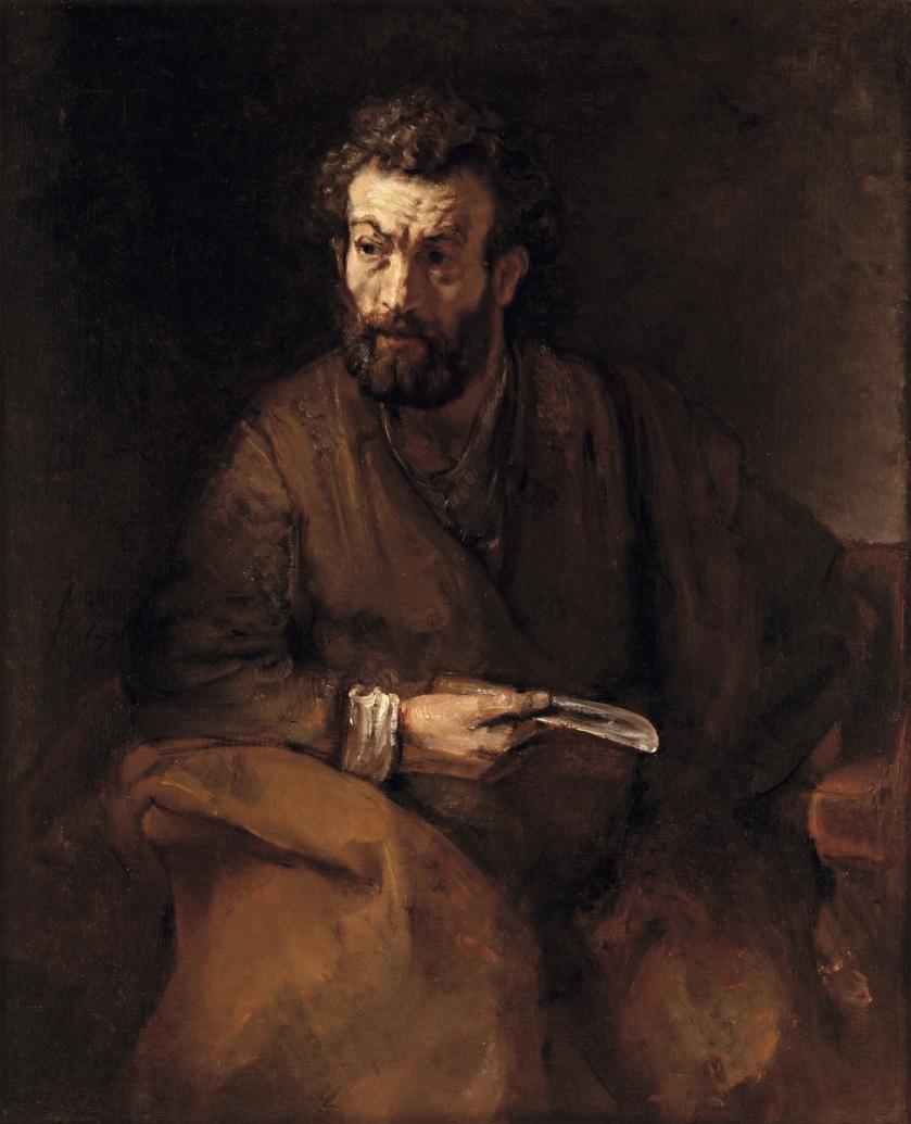 Rembrandt Harmensz. van Rijn- The apostle Bartholomew (1657)