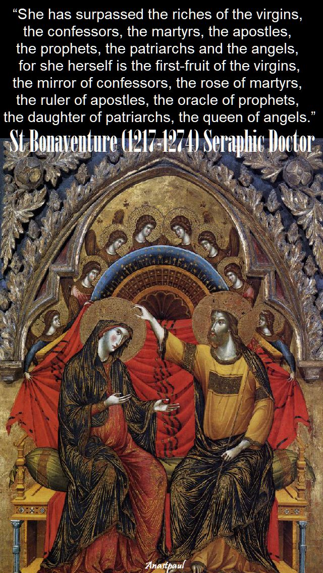 she has surpassed the riches - st bonaventure