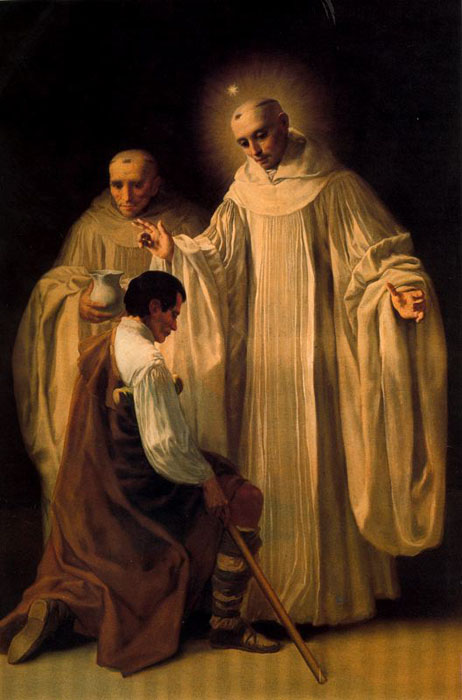 St Bernard of Clairvaux BY GOYA - Copy