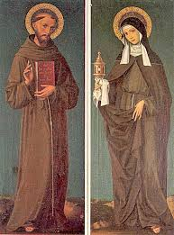 ST CLARE AND ST FRANCIS.1
