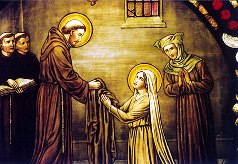 ST CLARE AND ST FRANCIS.3
