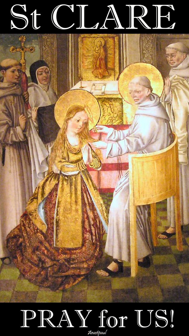 st clare pray for us 3