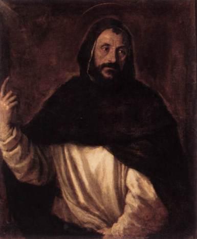 St Dominic, c.1565 - Ticiano Vecellio