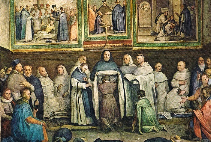st dominic gives habit to st hyacinth