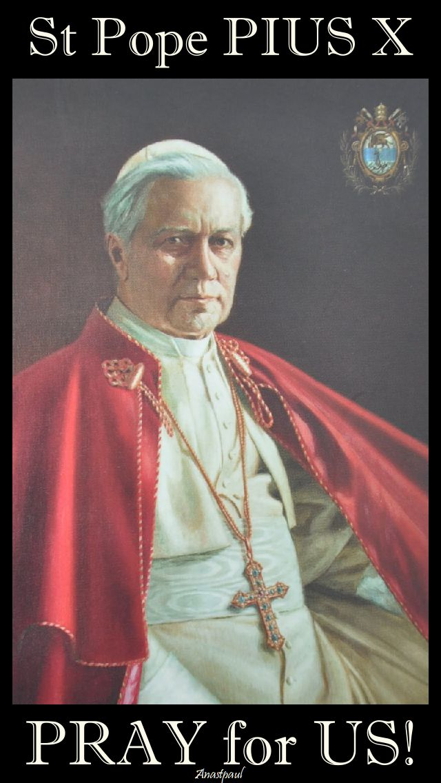 st pius x pray for us