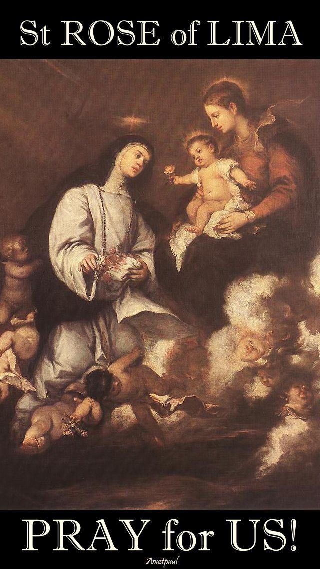 st rose of lima - pray for us
