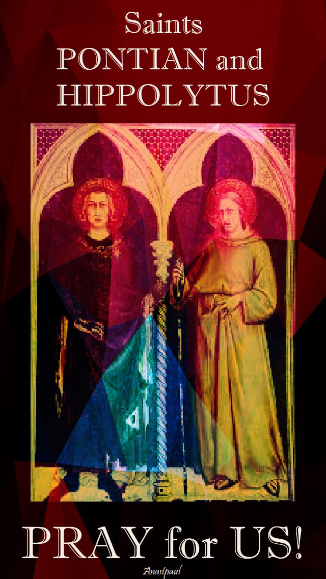 sts pontian and hippolytus pray for us