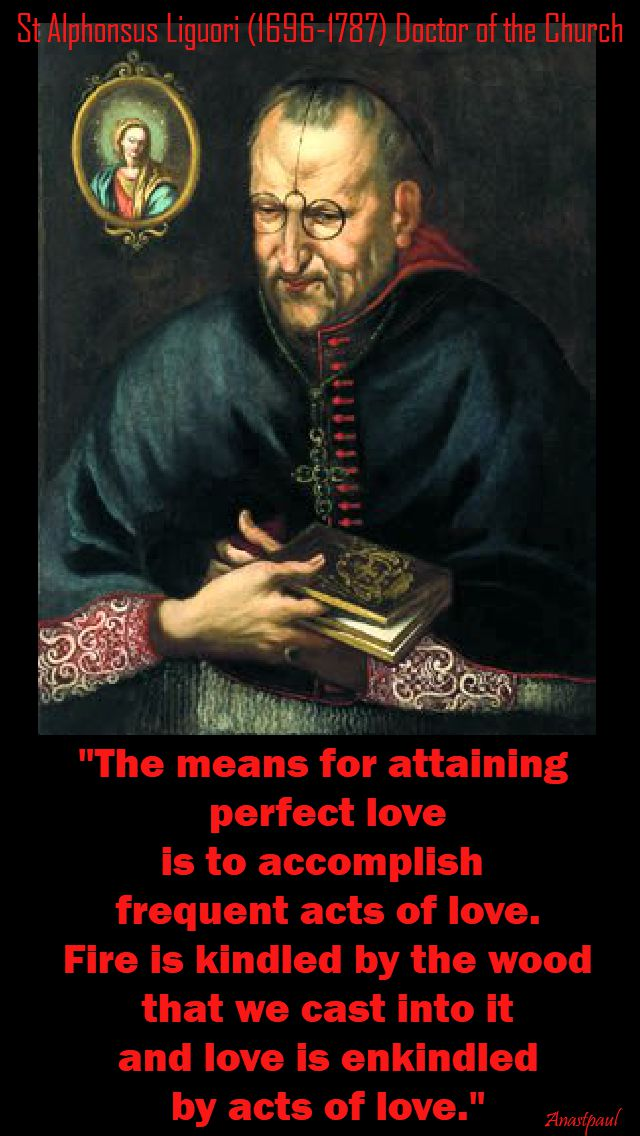 the means for attaining perfect love - st alphonsus liguori