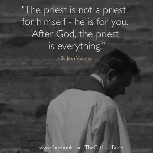 the priest is not a priest for himself