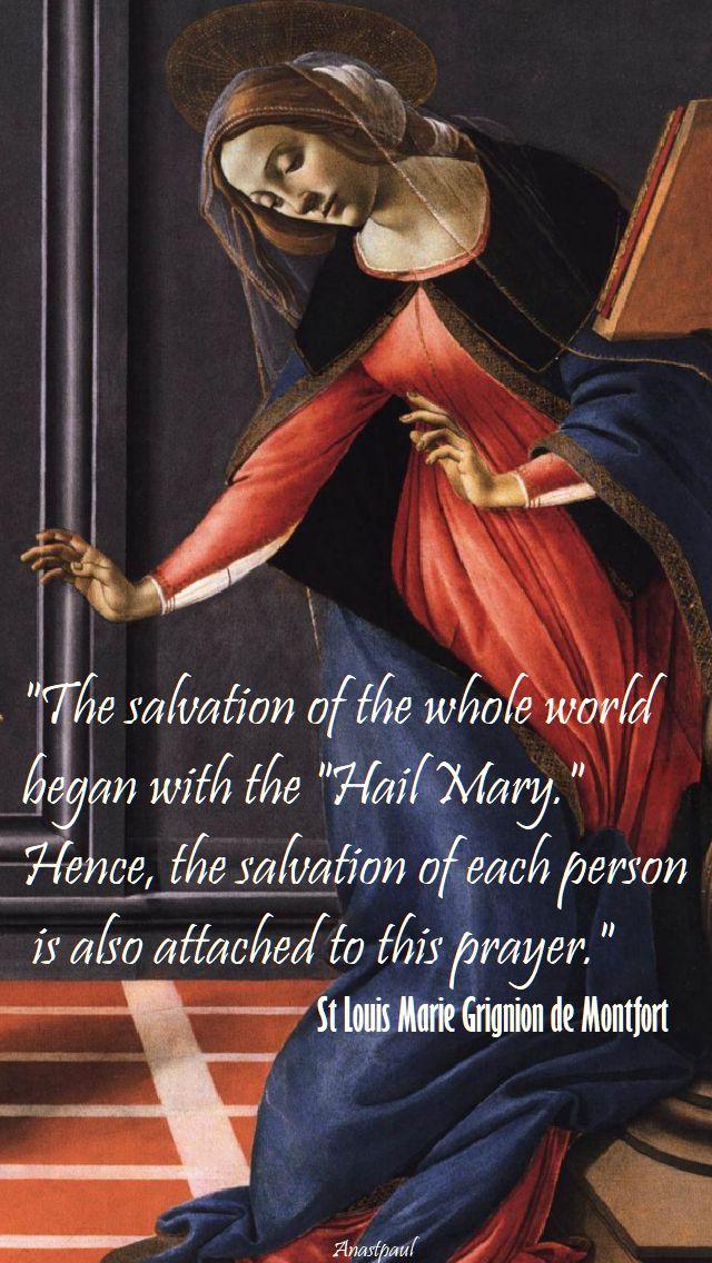 the salvation of the whole world - st louis de montfort