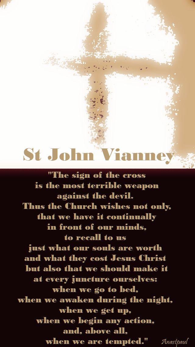 the sign of the cross - st john vianney