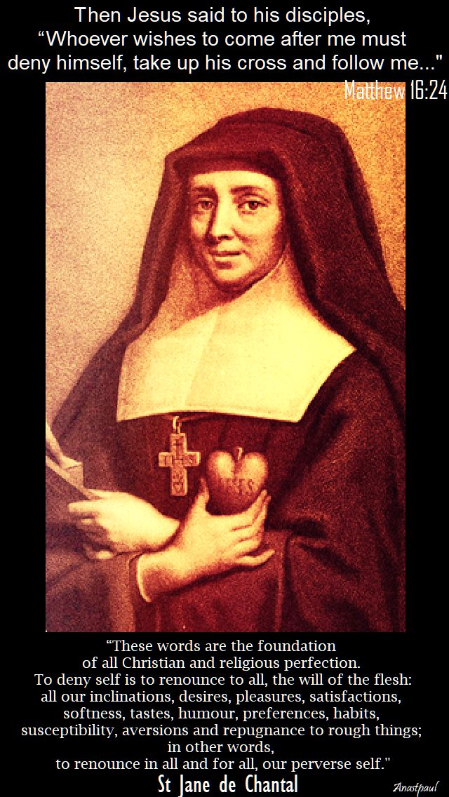 these words are the foundation - st jane de chantal