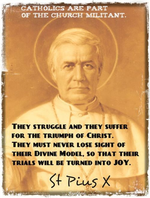 they struggle and they suffer - st pope pius X