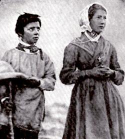 The shepherd children Maximin and Melanie