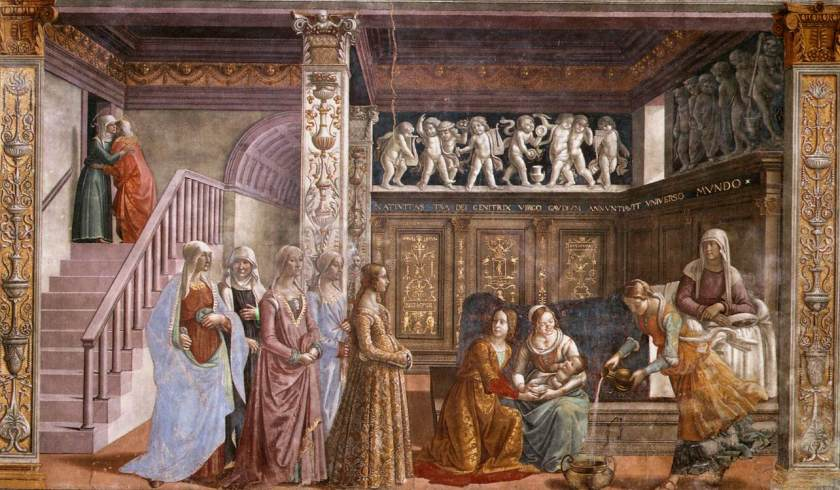 Birth_of_St_Mary_in_Santa_Maria_Novella_in_Firenze_by_Domenico_Ghirlandaio