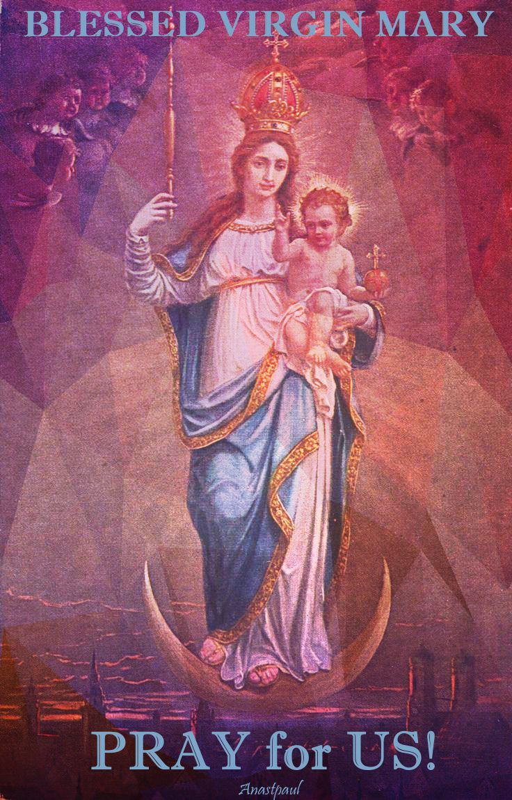 blessed virgin holy mother pray for us.2