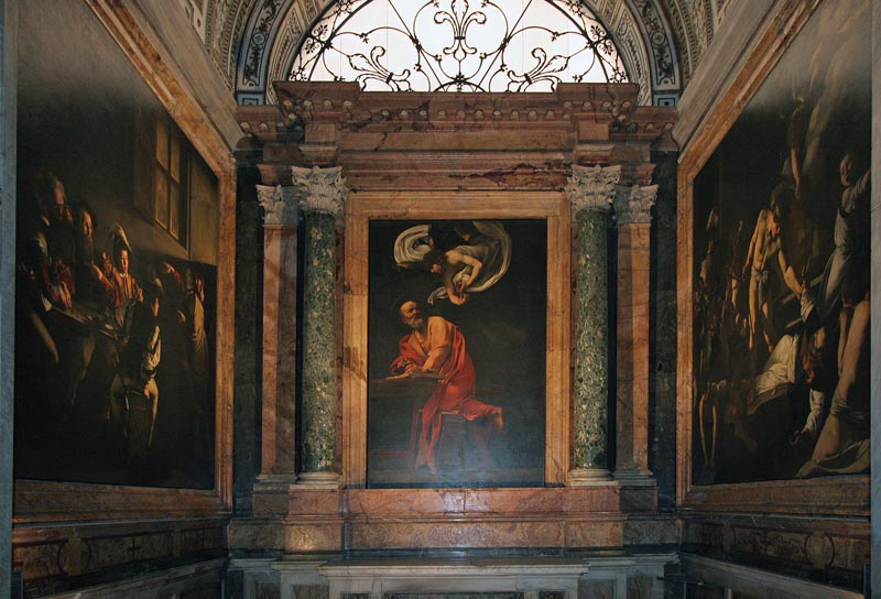 Contarelli Chapel in Rome's Church of St Louis of the French.