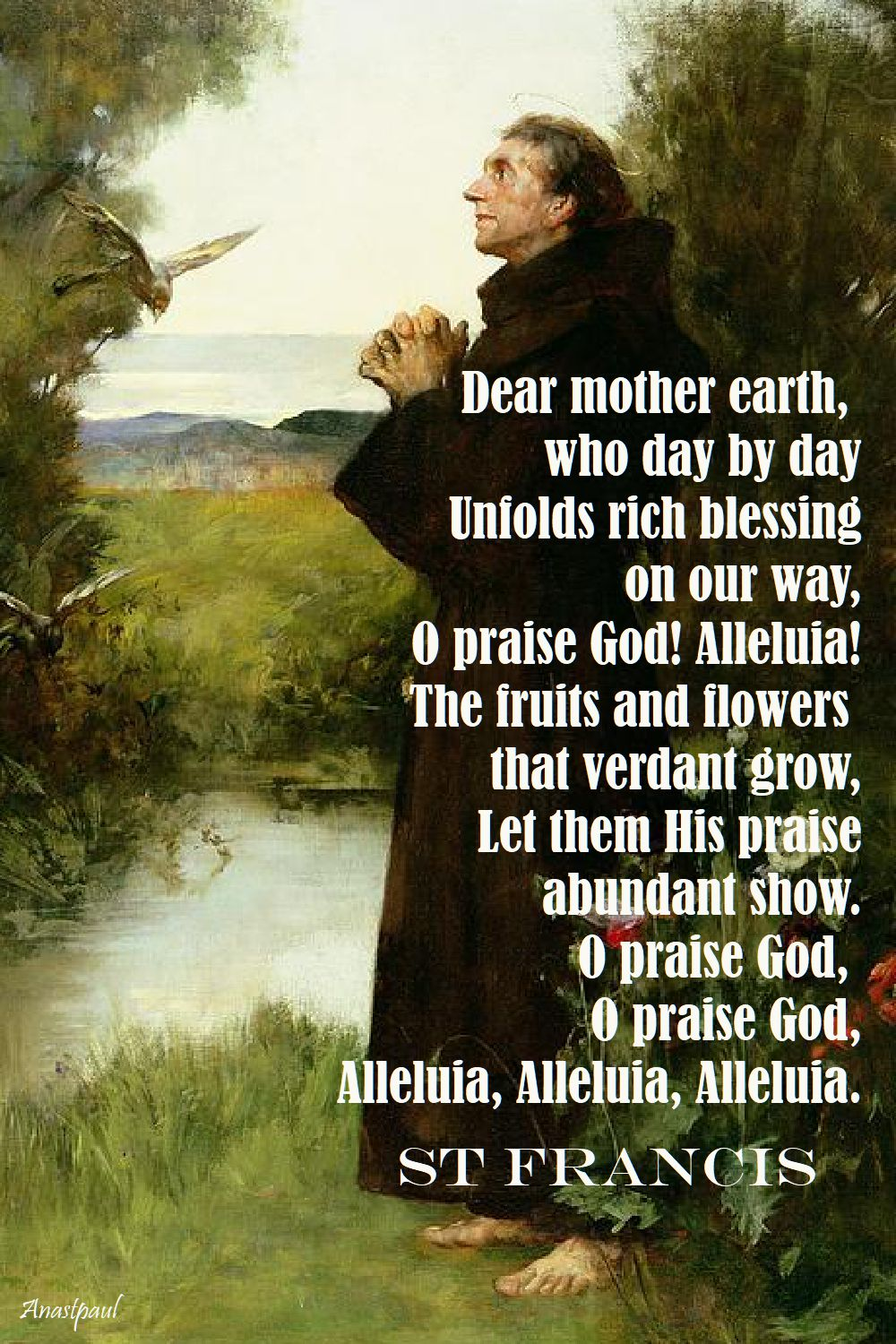 dear mother earth - st francis prayer
