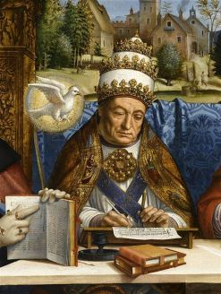 Detail of St Gregory the Great from The Four Doctors of the Church