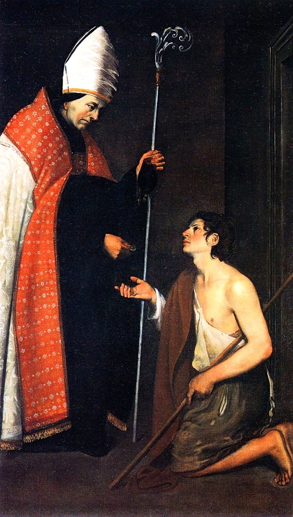 Giovanni Antonio Galli (Lo Spadarino), The Charity of Saint Thomas of Villanova,