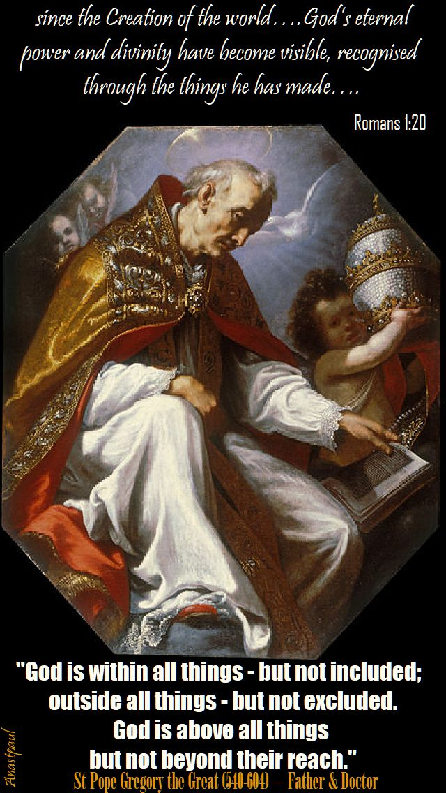 god is within all things - st gregory the great