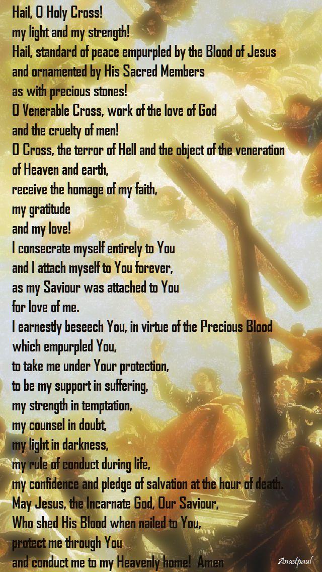 hail o holy cross - traditional prayer