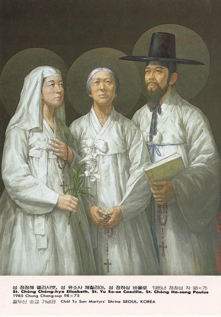 korean-martyrs-8-sts__chong_chong-hye_elisabeth_yu_so-sa_caecilia_chong_ha-sang_paulus_chung_chang-sup_98x75_1985