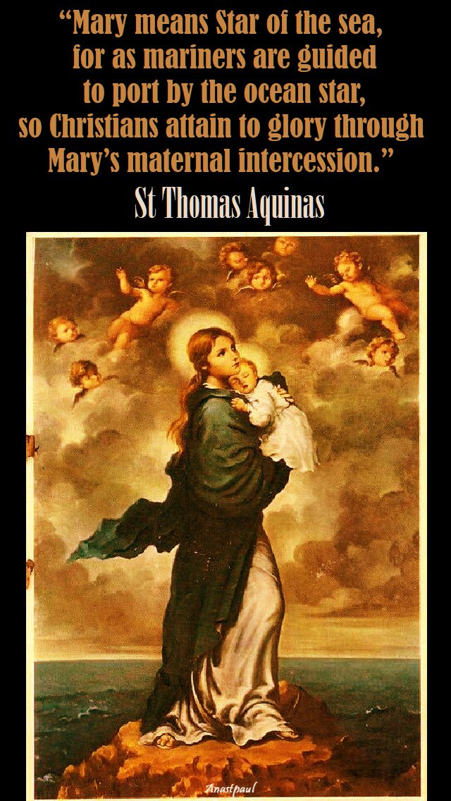 mary means star of the sea - st thomas aquinas