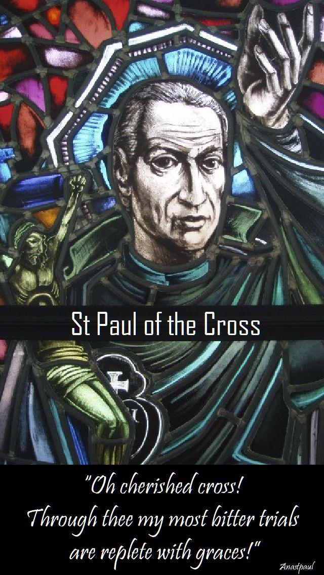 oh cherished cross - st paul of the cross